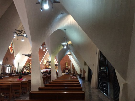 Mexican church interior