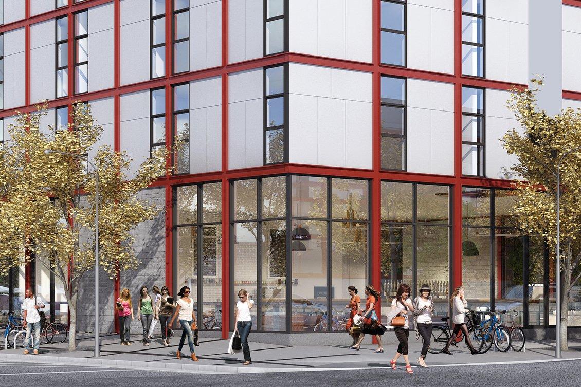 188 Hooper Student Housing. Rendering by Stanley Saitowitz | Natoma Architects
