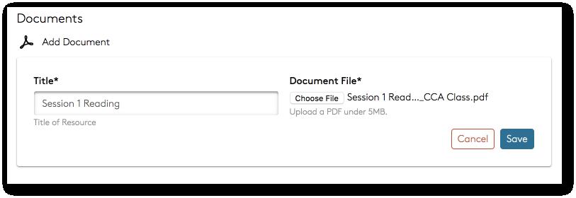 Add document file upload window