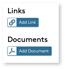Add Link and Add Documents buttons