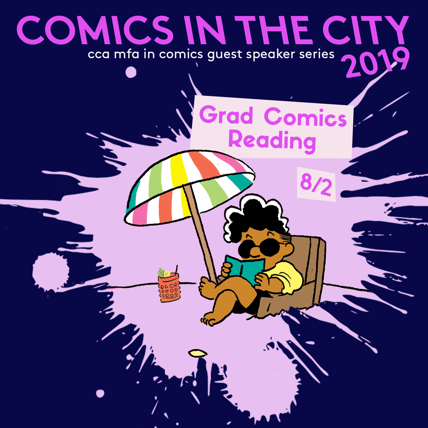 Comics in the City 2019 Grad Reading Poster_Events_NP