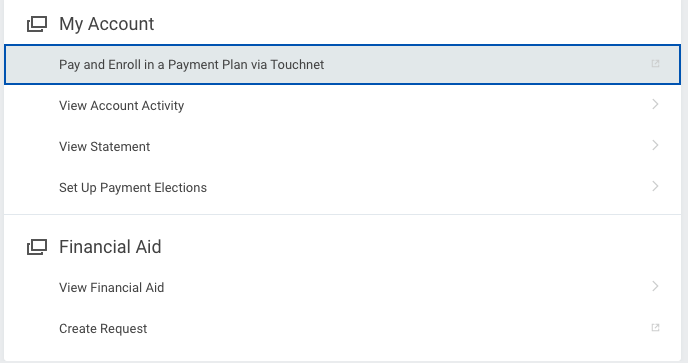 Pay and enroll in.a payment plan via Touchnet