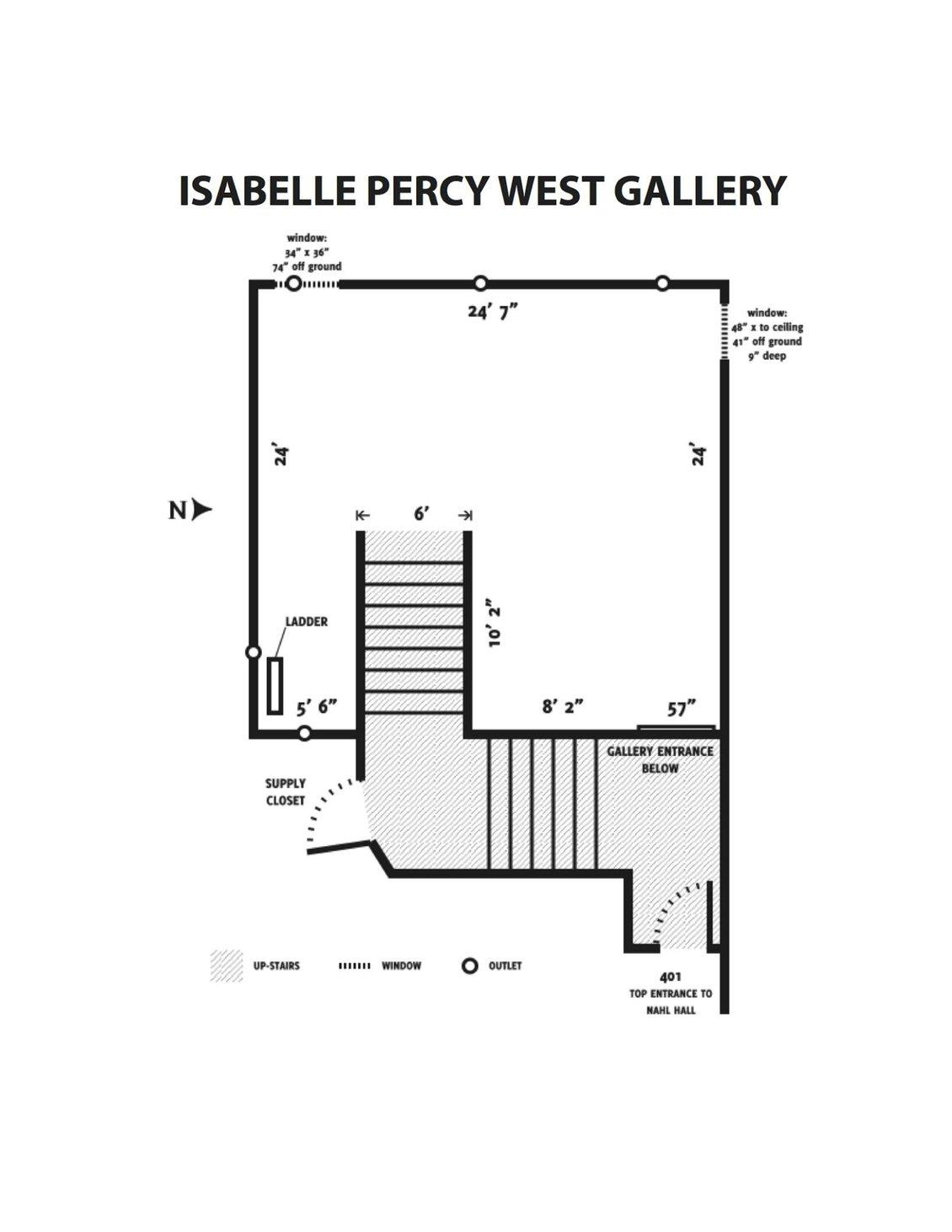 Isabel Percy West Gallery Floorplan