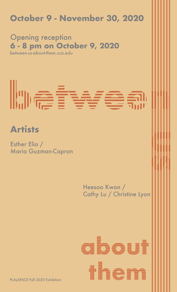 between us about them exhibition graphic