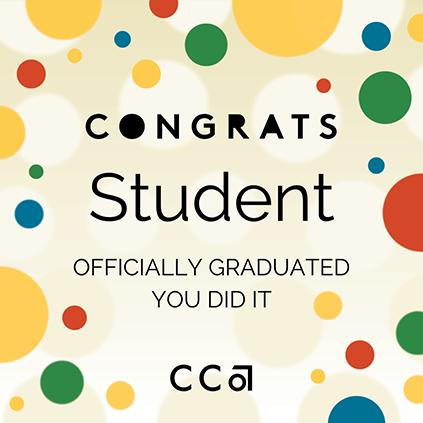 Congrats Student social media post