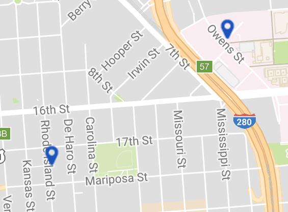 Clipper Retail Map