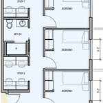 Blattner Hall_4 Bedroom Floorplan Singles