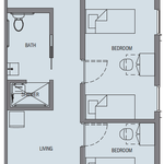 Founders 2 Bedroom Suite Floorplan