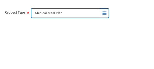 Workday Create Request Meal Plan Exemption 1