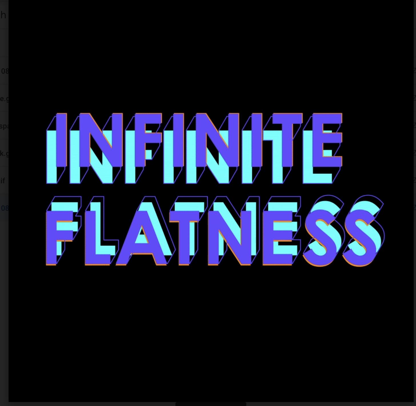 MFA Design Infinite Flatness thesis show 2020