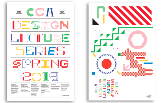 Spring 2019 Design Lecture Series Poster