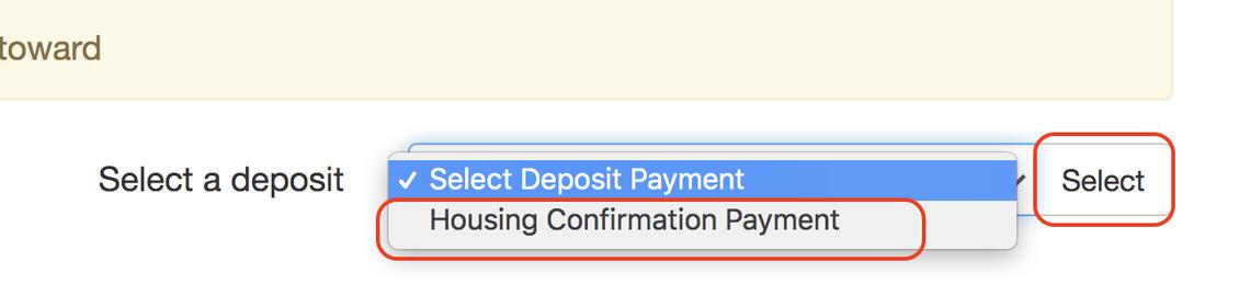 eDeposits - Select a deposit.