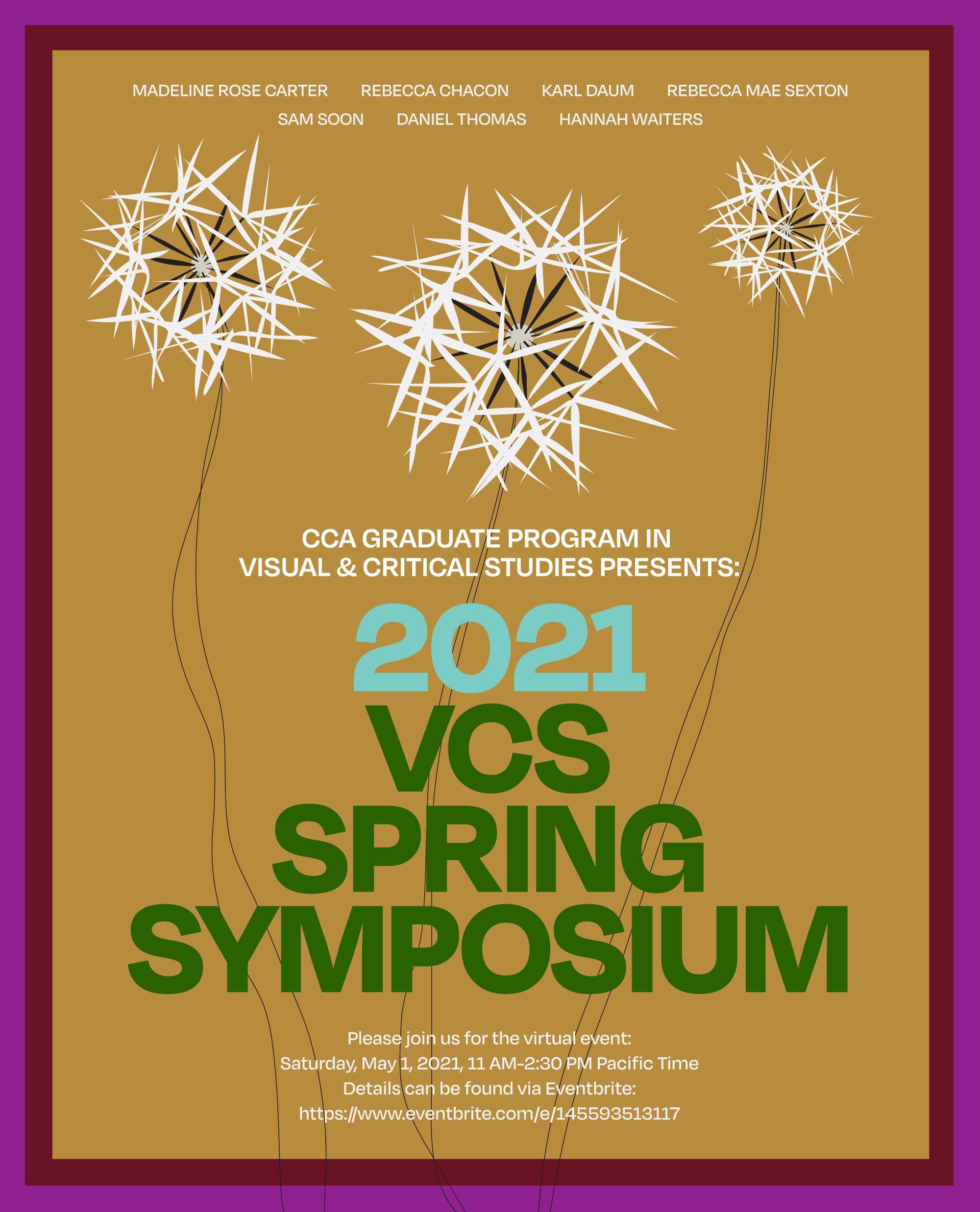 VCS 2021 Spring Symposium