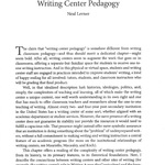 Writing Center Pedagogy bibliographic essay by Neal Lerner - GCP2e.png