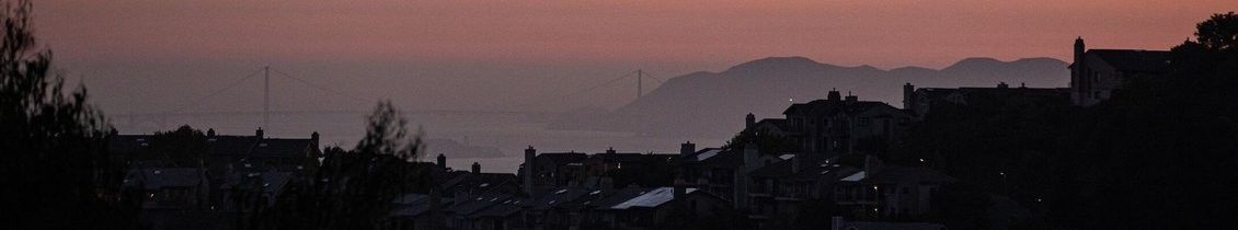View of Golden Gate Bridge and Marin from the East Bay
