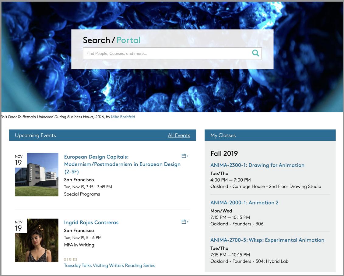 Portal My Classes widget