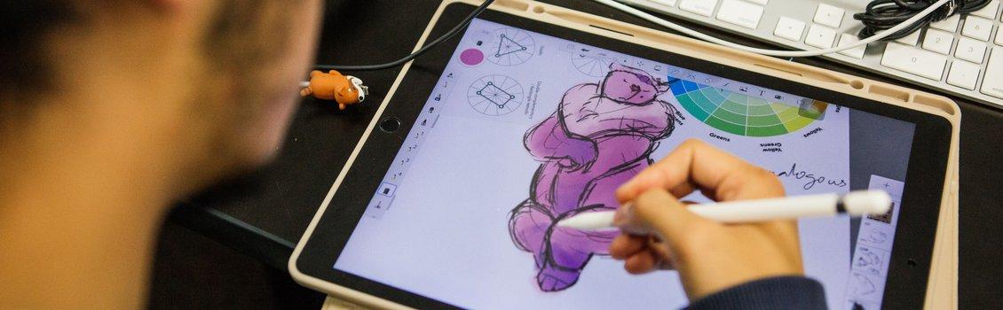 Student animation ipad