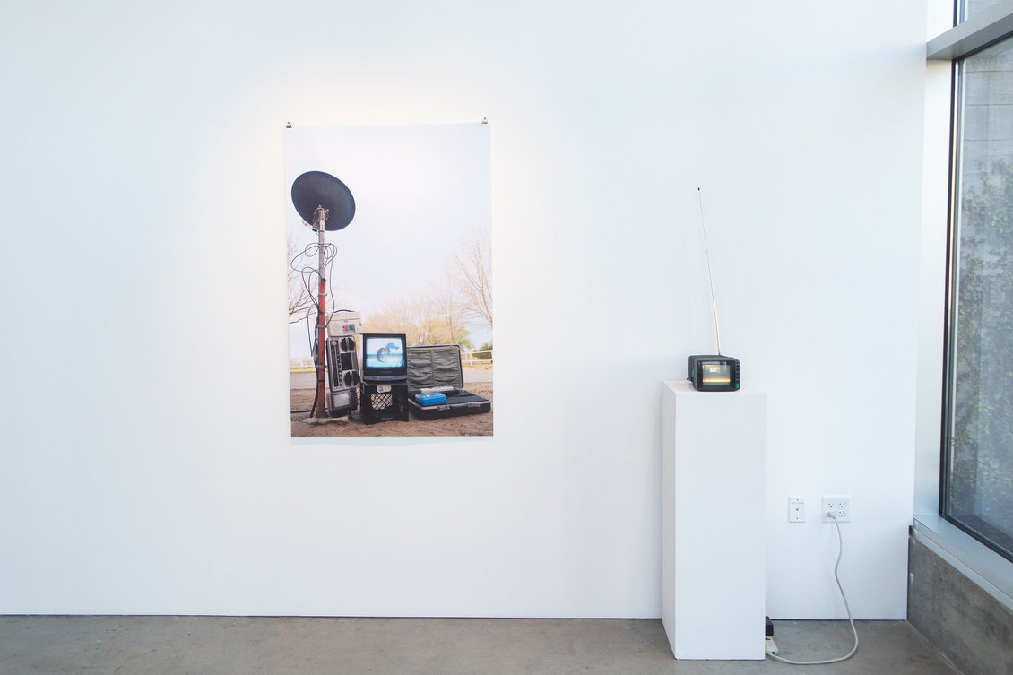 Example: Santino Gonzales, MFA, Installation view of Orion in Spring and Visitation, 2020